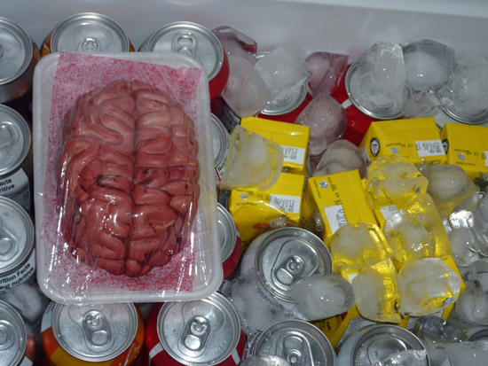 Bloody Brain in the Cooler